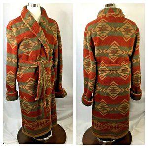 Woolrich~Plush Robe~Southwest~Aztec Print~Pockets~